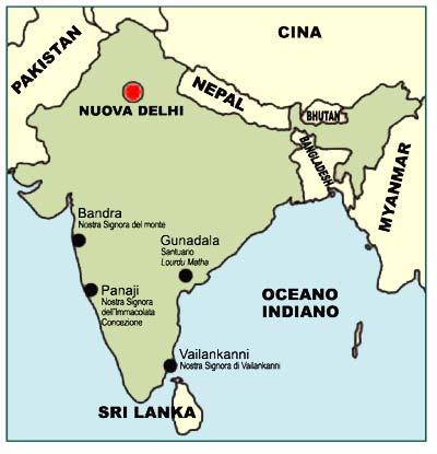 Cartina Muta Del Subcontinente Indiano.Maggio Il Mese Dedicato A Maria